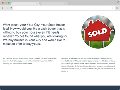 real estate investor website content that converts
